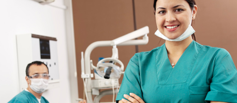 Dental Assistant in a dental office.
