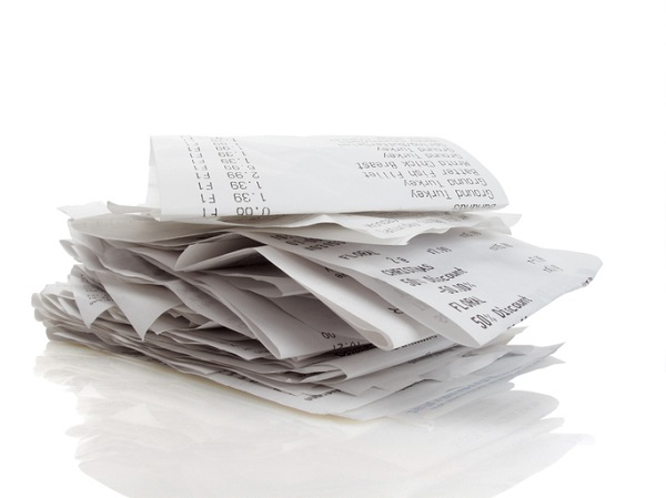 Keeping receipts is important for small businesses, but make sure they are well organized