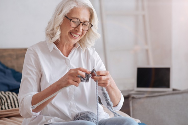 Hobbies like knitting can help clients express themselves creatively