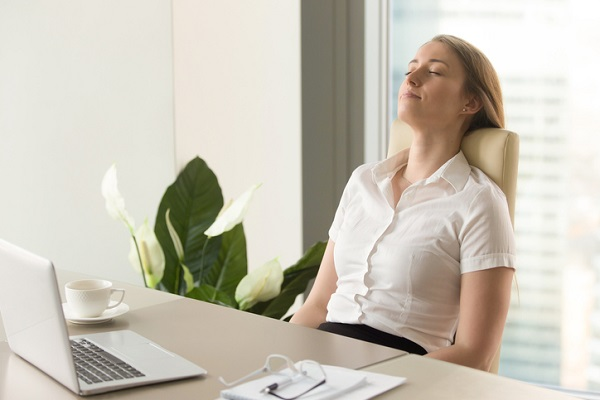 Deep breathing helps CSWs calm down and refocus their minds