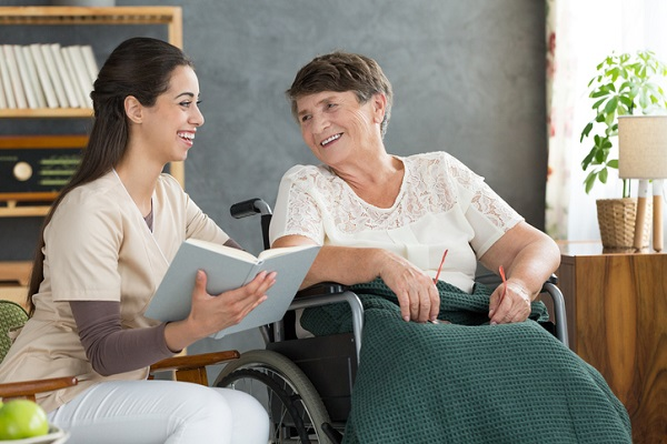 Participating in daily activities together can help healthcare assistants connect with their clients