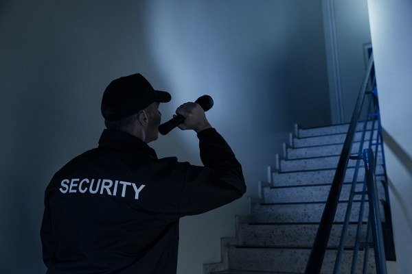 Many security positions have minimum fitness standards, such as frequent walking and climbing stairs